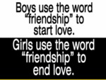 Boys Use The Word Friendship.