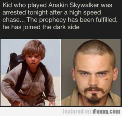 Kid Who Played Anakin Skywalker...