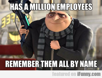 Has A Million Employees...