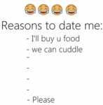 Reason's To Date Me...