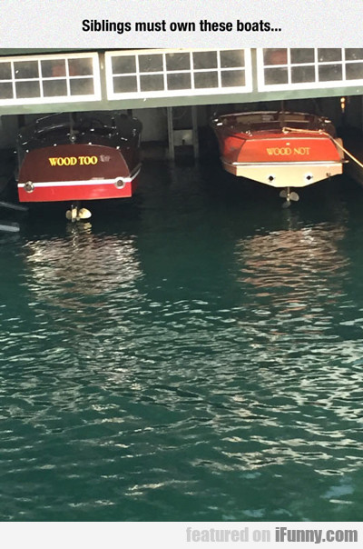 siblings must own these boats...
