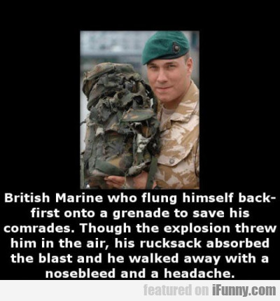 British Marine Who Flung