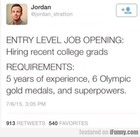 Entry Level Job Opening