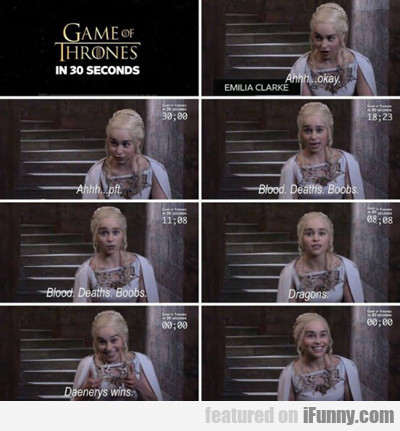 Game Of Thrones In 30 Seconds...