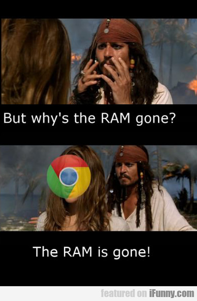 but why's the ram gone?