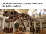 Creationist Museum Acquires...