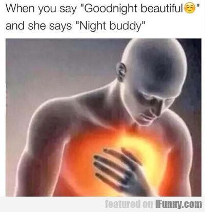 When You Say Goodnight Beautiful...
