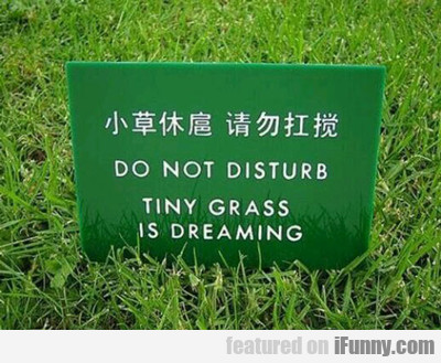 Do Not Disturb...
