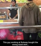 This Guy Working At Subway...