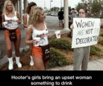 Hooter's Girls Bring An Upset Woman...