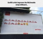 Grafitti Artist Improves The Mcdonalds...