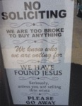No Soliciting...