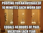 Pooping For An Average Of Ten Minutes...