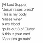 At Last Supper Jesus Raises