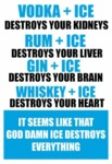 Vodka Plus Ice...