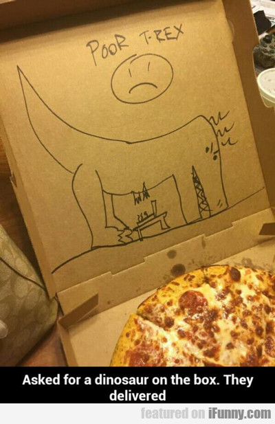 Asked For A Dinosaur On The Box...