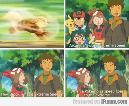 Arcanine Is Using Extreme Speed...