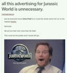 All This Advertising For Jurassic World...