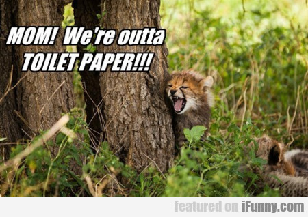 mom we re outta toilet paper