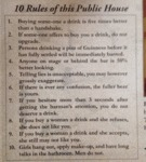 10 Rules Of This Public House