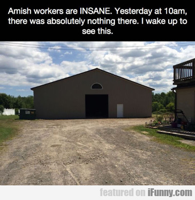 amish workers are insane...