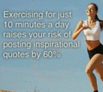 Exercising For Just Ten Minutes A Day...