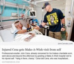 Injured Cena Gets Make A Wish...
