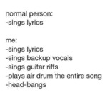 Normal Person: Sings Lyrics...
