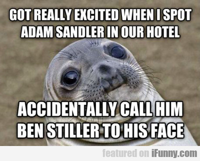 Got Really Excited When I Spot Adam Sandler...