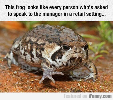 This Frog Looks Like Every Person...