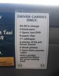 Driver Carries Only...