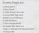 Creative People Are...