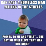 Ran Past A Homeless Man...
