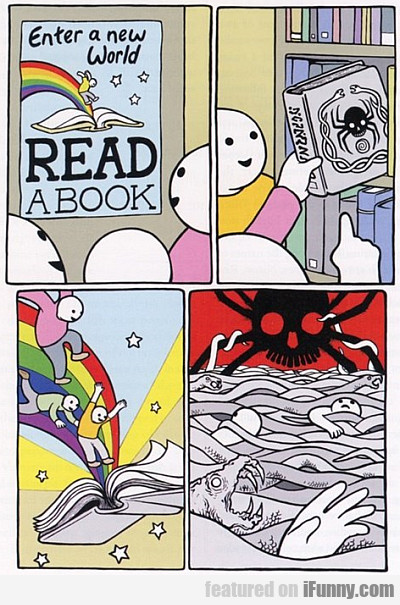 Enter A New World! Read A Book!