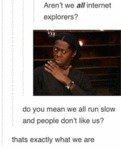 Aren't We All Internet Explorers?
