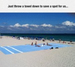 Just Throw A Towel Down...