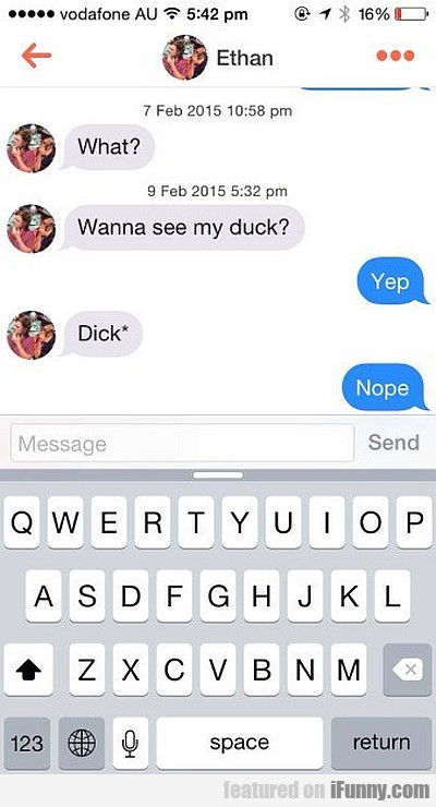 Wanna See My Duck?