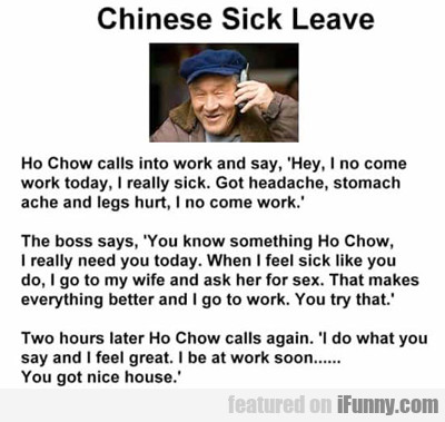 Chinese Sick Leave...