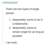 There Are Two Types Of Single People...