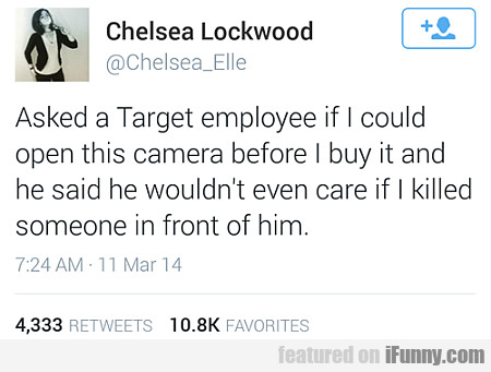 Asked A Target Employee...