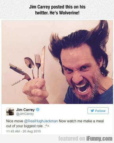 Jim Carrey Posted This On Twitter...