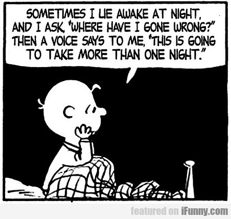 sometimes i lie awake at night...
