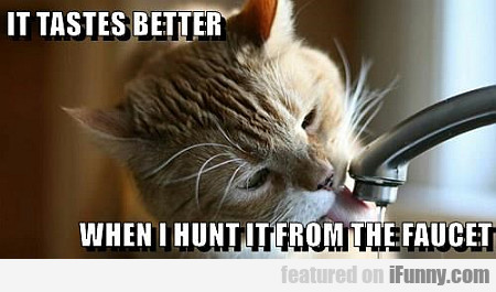 It Tastes Better When I Hunt It From The Faucet