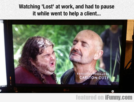 Watching Lost At Work..
