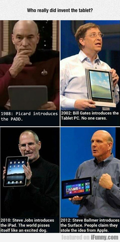 who really did invent the tablet?