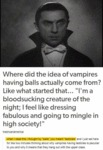 Where Did The Idea Of Vampires...