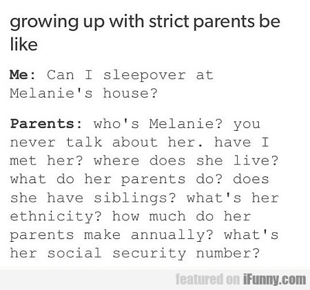 Can I Sleepover At Melanie's House?