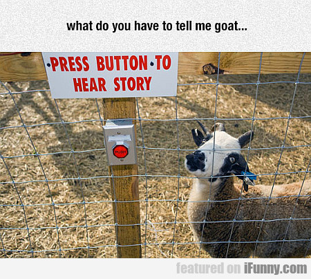What Do You Have To Tell Me, Goat?
