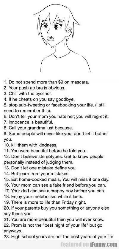 Some Useful Words Of Wisdom For Teenagers