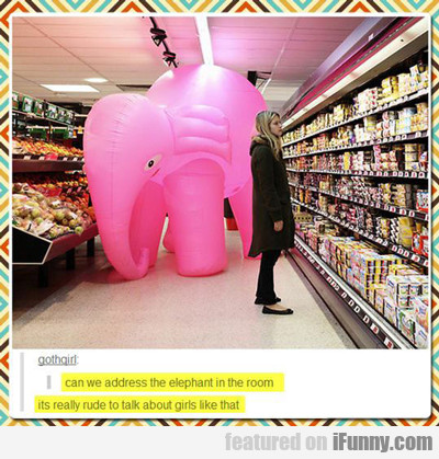 can we address the elephant in the room?
